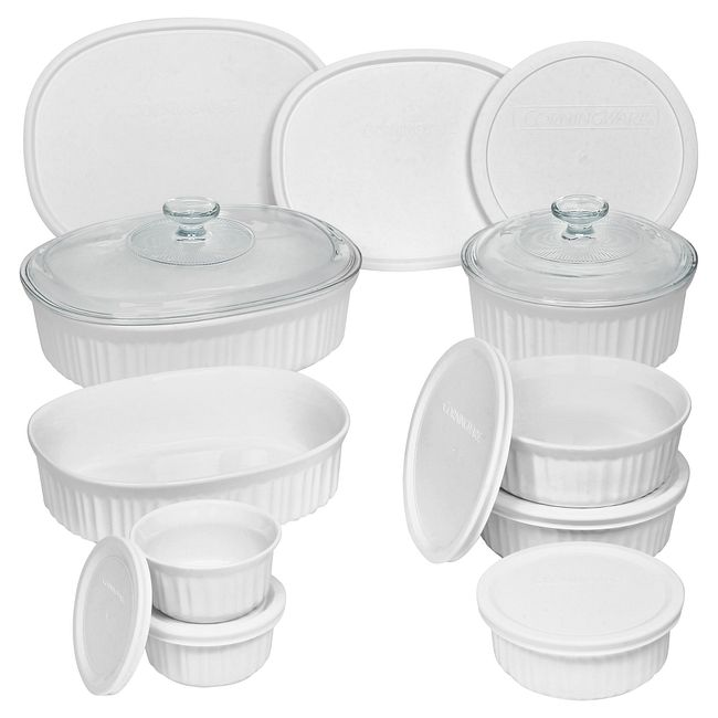 French White 18-piece Round & Oval Set