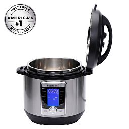 Instant Pot Ultra 10-in-1 Multi-Functional Programmable Pressure Cooker, 6 QT with lid open