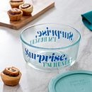 Surprise I'm Hungry 4-cup Glass Food Storage Container with Jade Green Lid