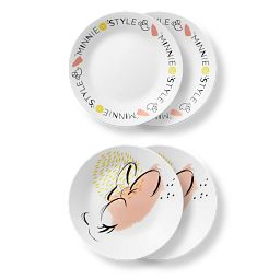 "6.75"" Appetizer Plates Minnie Mouse 4-pack"