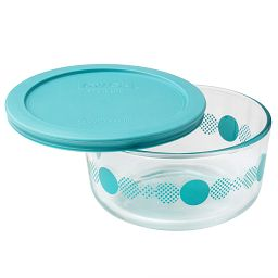 Simply Store 4 Cup Turquoise Rings of Neptune Storage Dish w/ Lid