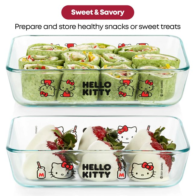 8-piece Glass Storage Set: Hello Kitty®
