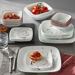 Splendor 44-piece Dinnerware Set, Service for 8 on the table