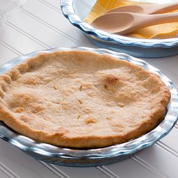 "Easy Grab 9.5"" Pie Plate with Pie Inside Plate"