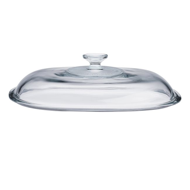 French White Glass Lid for 4-quart Baking Dish