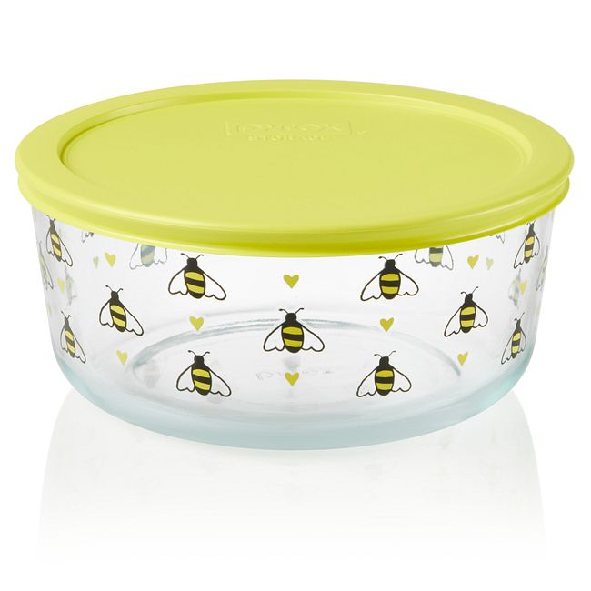 Simply Store Bee Happy 7 cup Storage Dish w/ Lid