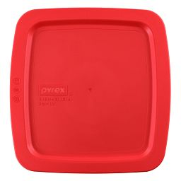 "Easy Grab® 8"" x 8"" Square Plastic Lid  Red"