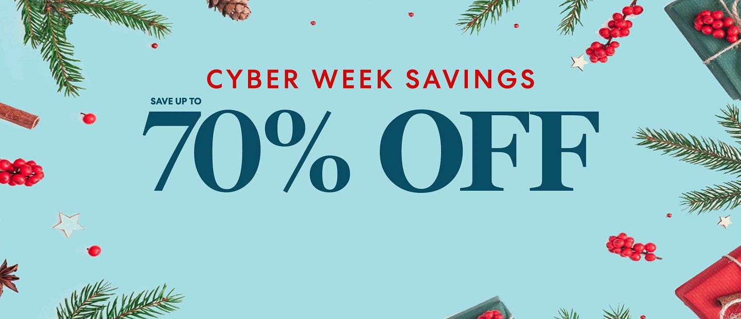Cyber Week Save up to 70%