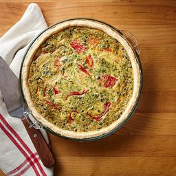 "9.5"" Pie Plate with Quiche"