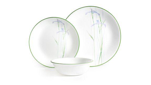 Shadow Iris Round Corelle Pattern Dinnerware