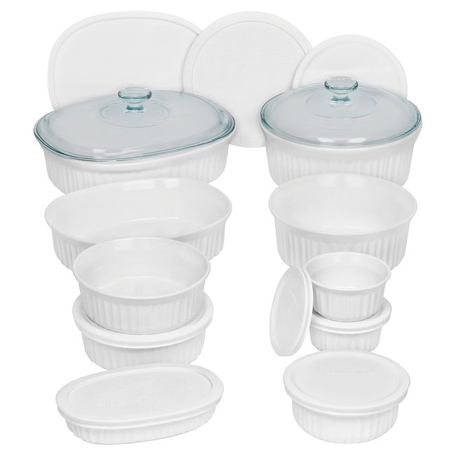 French White 20-piece Bakeware Set