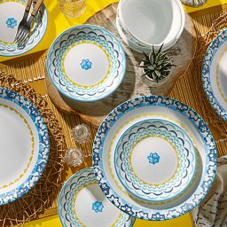 Boho Daydream 18-piece Dinnerware Set on the table