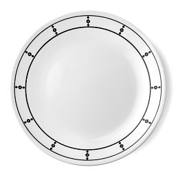 "Livingware™ Pearls 8.5"" Plate  Black  &  White"
