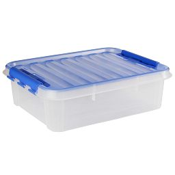 "Smart Store® 20"" x 6"" Home Storage Container with Blue Handles"