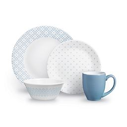 Farmstead Blue 16-piece Dinnerware Set, Service for 4