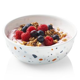 Signature Terrazzo 16-oz Bowl with food inside