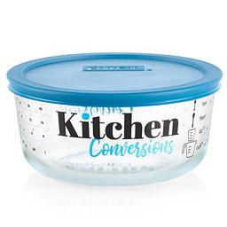 Kitchen Conversions 4-cup Food Storage Container with Teal Lid