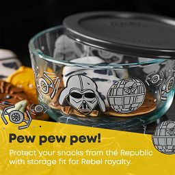 Pew pew pew text. Protect your snacks from the republic with storage fit for rebel royalty