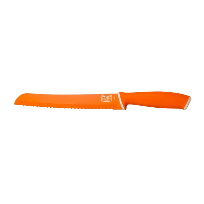 "Vivid 8"" Bread Knife, Orange"