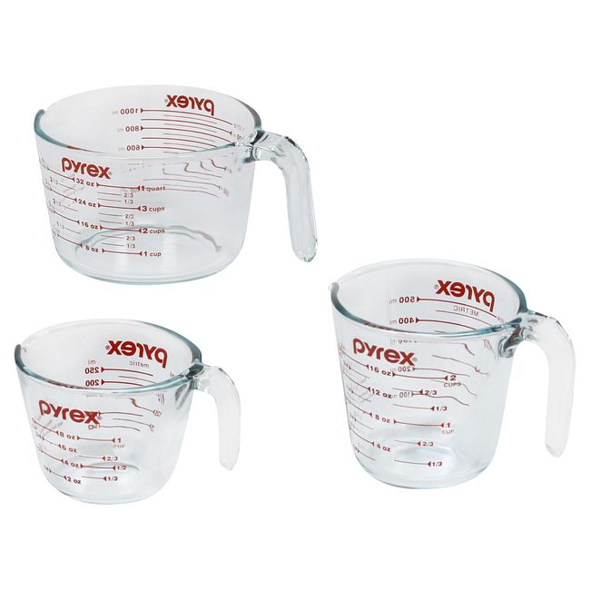 3-pc Measuring Cup Set, Red