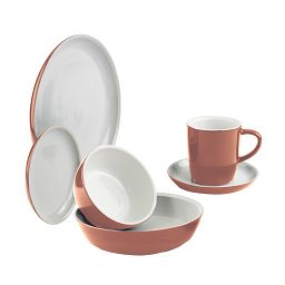 Corningwar 6-pc Red Clay Dinnerware Set