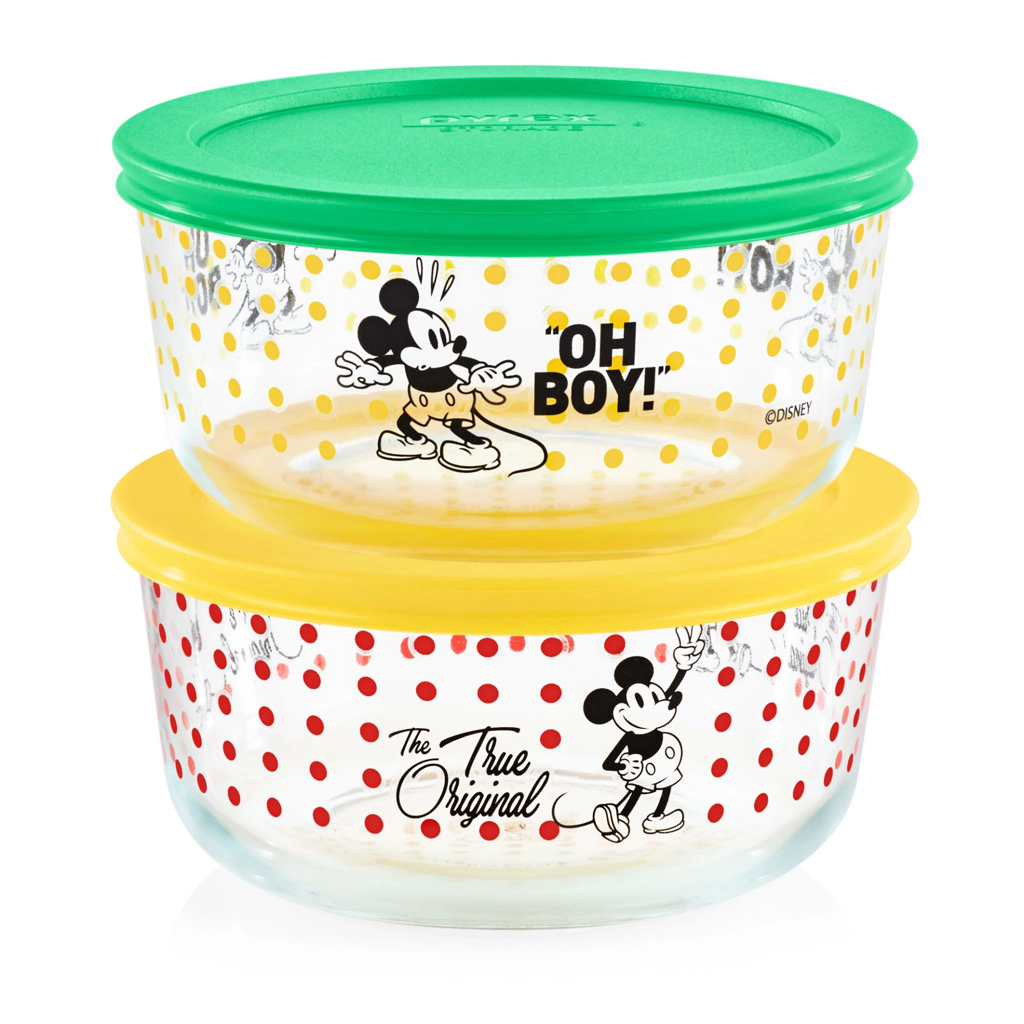 4-cup Decorated Storage 4-pc Set:  Mickey Mouse - Oh Boy / The True Original