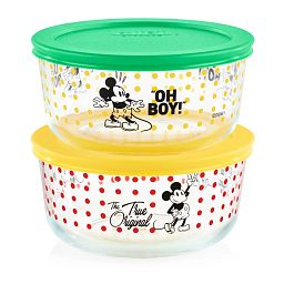 4-cup Decorated Storage 4-pc Set: Mickey Mouse™ - Oh Boy / The True Original Value Pack