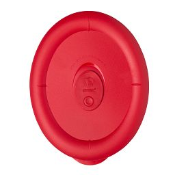 Pro 3.67 Cup Oval Vented Plastic Lid  Red