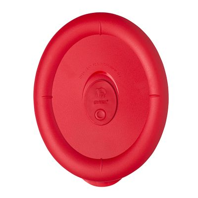 Pyrex Pro 3.67 Cup Oval Vented Plastic Lid, Red