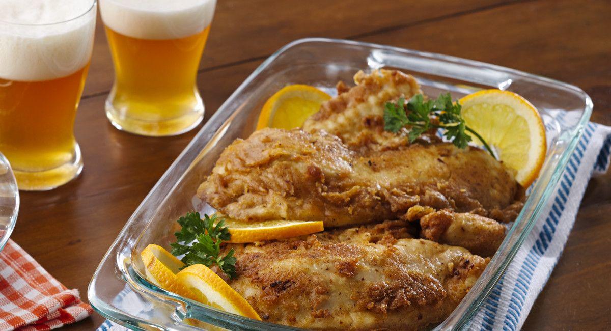 Hefeweizen Beer-Battered Fish