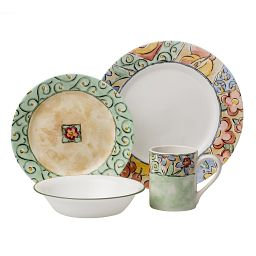 Watercolors 16-piece Dinnerware Set