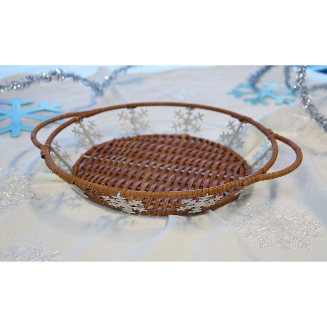 "9.5"" Snowflake Basket"
