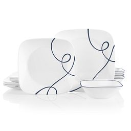 Square Lia 18-piece Dinnerware Set, Service for 6