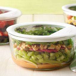 Ultimate 4 Cup Round Storage Dish with Food Inside