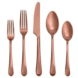 Skandia Mirabella Satin Copper 5-piece Place Setting, Service for 1
