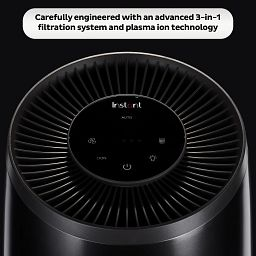 Small Black Instant Air Purifier control panel
