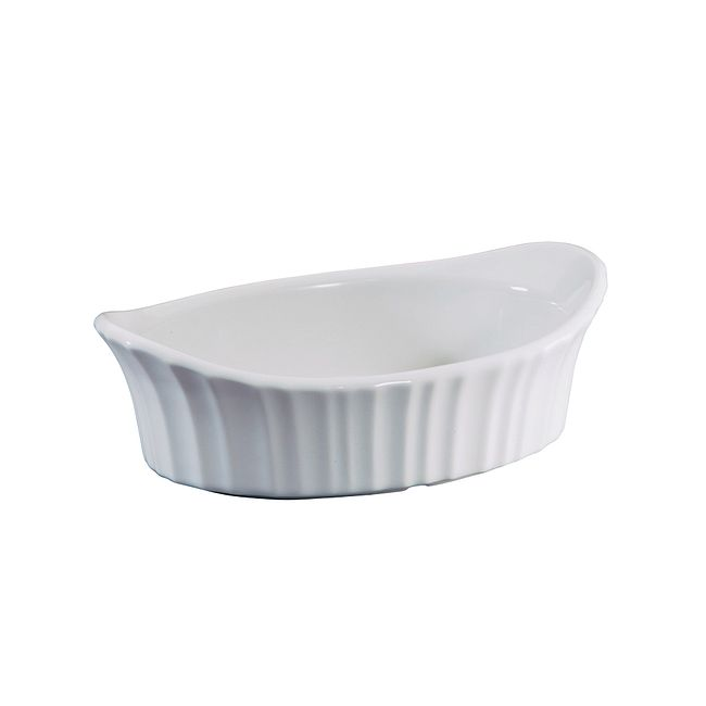 French White 18-ounce Small Appetizer Baking Dish