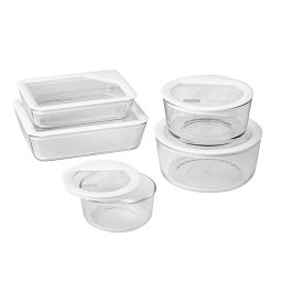 Ultimate 10-piece Storage Set with White Lids