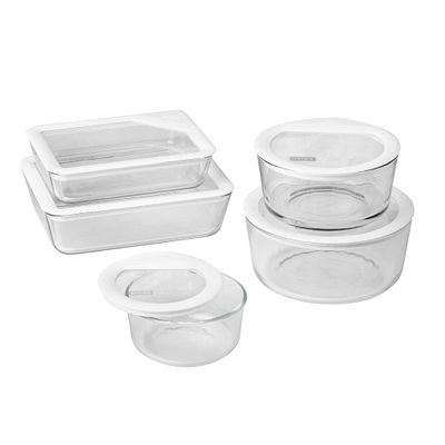 Pyrex Ultimate 10-Pc Storage Set, White