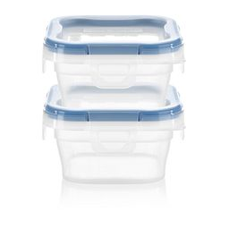 Total Solution™ Plastic Food Storage 2 pack  Square front view