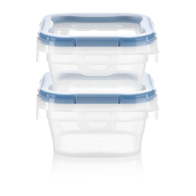 Total Solution Square Plastic Food Storage, 2-pack