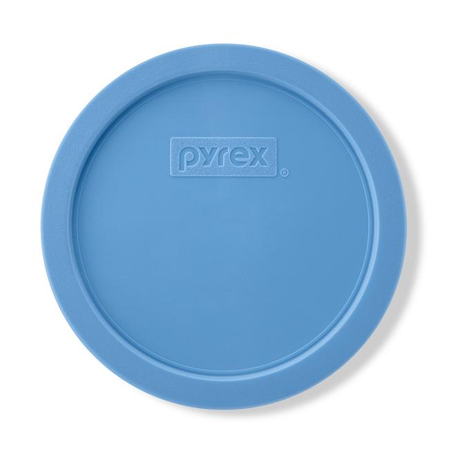 3 Cup Round Plastic Lid, Cornflower Blue