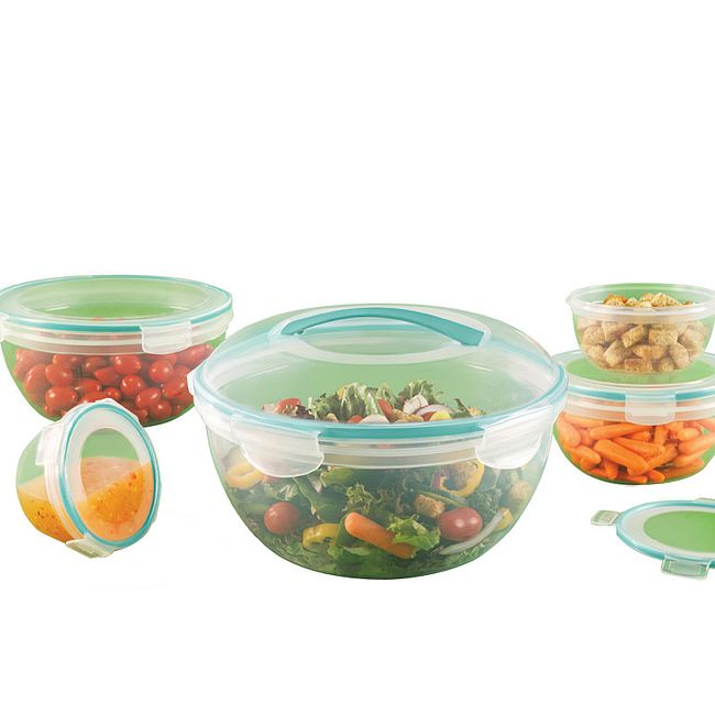 Airtight 10-piece Plastic Food Storage Container Set