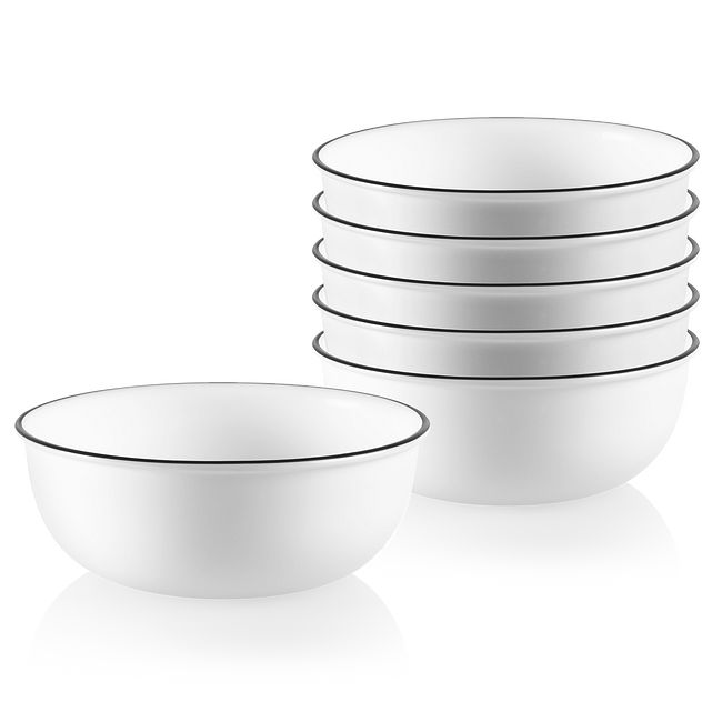 City Ribbon 16-ounce Small Soup Bowls, 6-pack