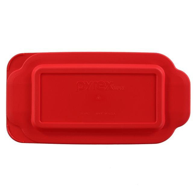 Red Lid for 1.5-quart Rectangular Glass Loaf Pan