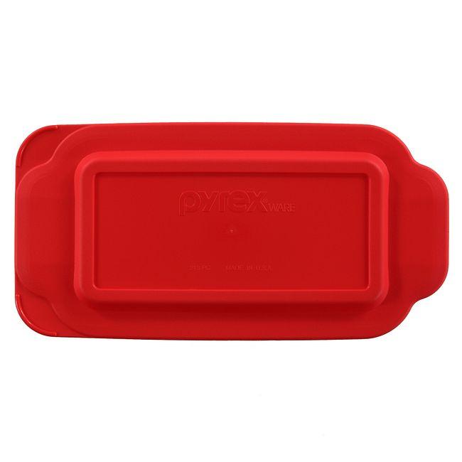 1.5-qt Loaf Pan Plastic Lid, Red