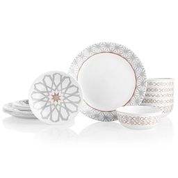 Amalfi Rosa 18-piece Dinnerware Set, Service for 6