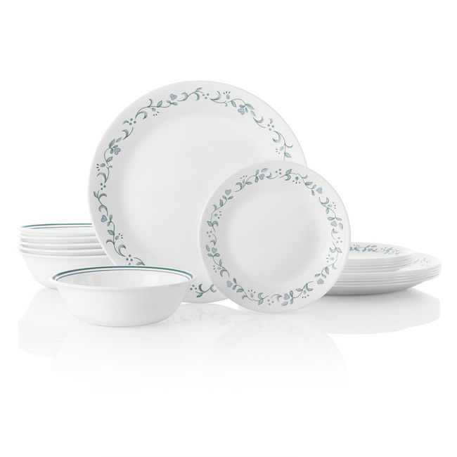 Country Cottage 18-piece Dinnerware Set, Service for 6