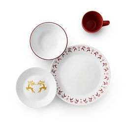 Dancer & Prancer 16-piece Dinnerware Set top view