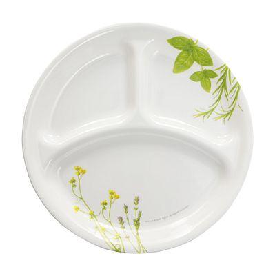 Livingware European Herbs 10 25 Quot Divided Plate Corelle